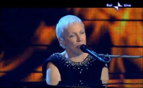 Annie Lennox at Sanremo 2009 festival