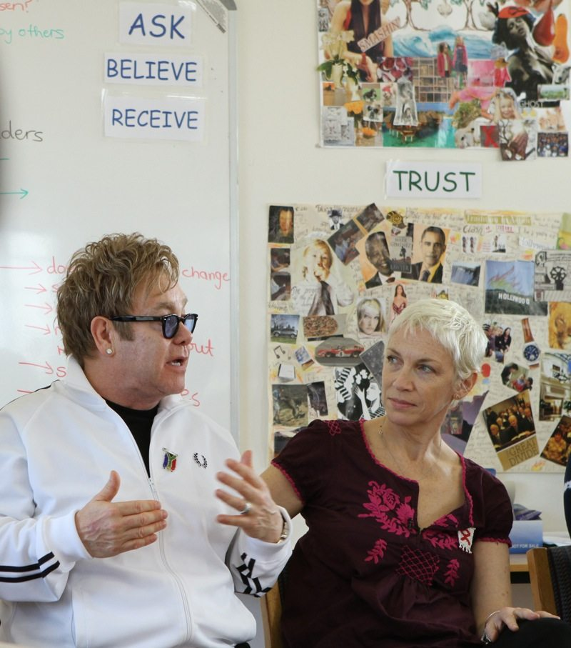 Annie Lennox and Elton John Officially Open The Vrygrond Center