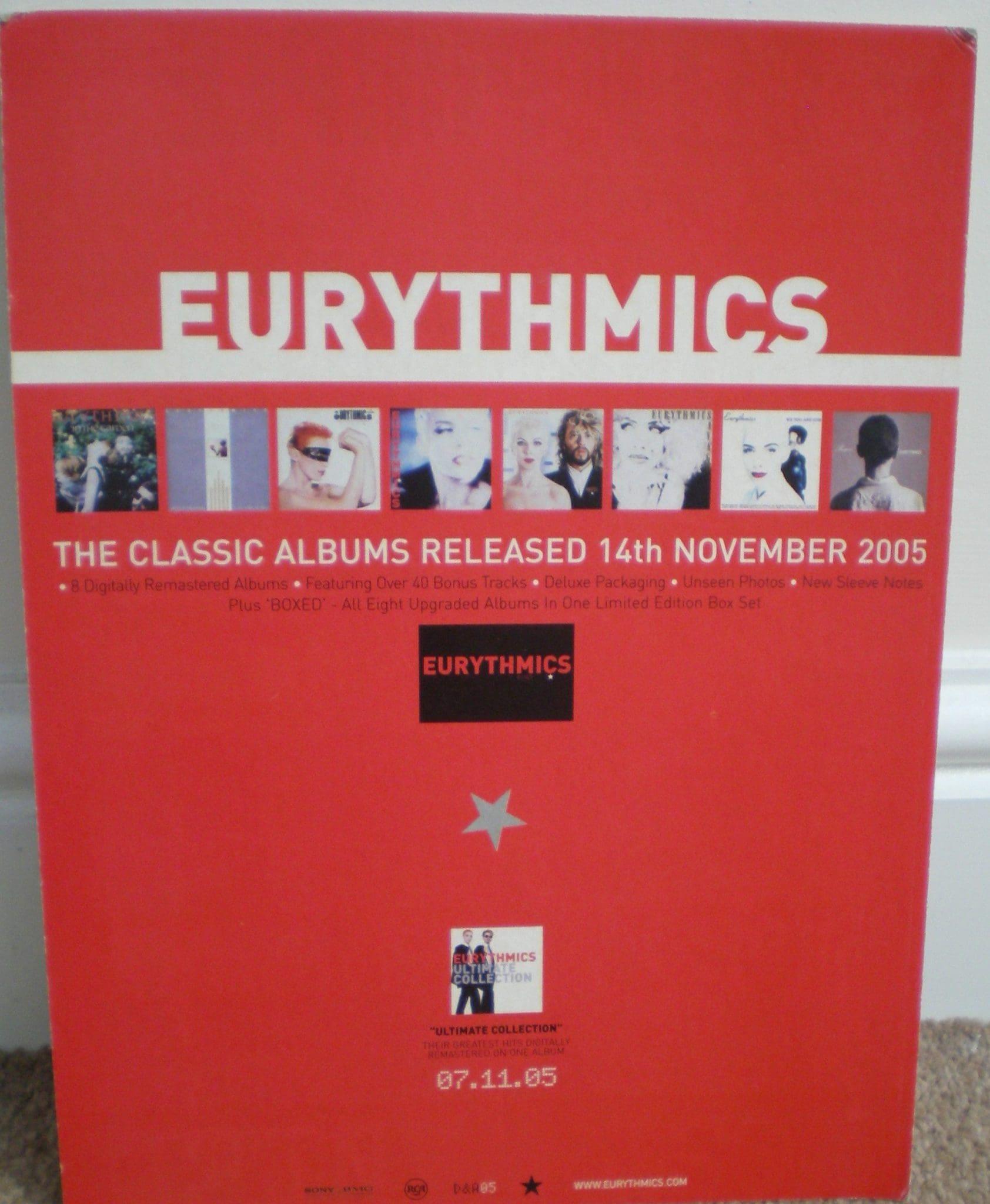 Memorabilia Of The Week : Eurythmics Remasters / Boxed