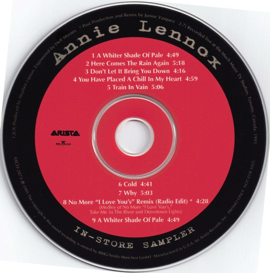 Record Of The Week : Annie Lennox Much Music Instore Promo