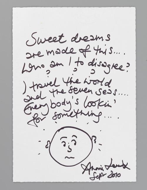 Annie Lennox's Sweet Dreams Lyrics Raise £3000