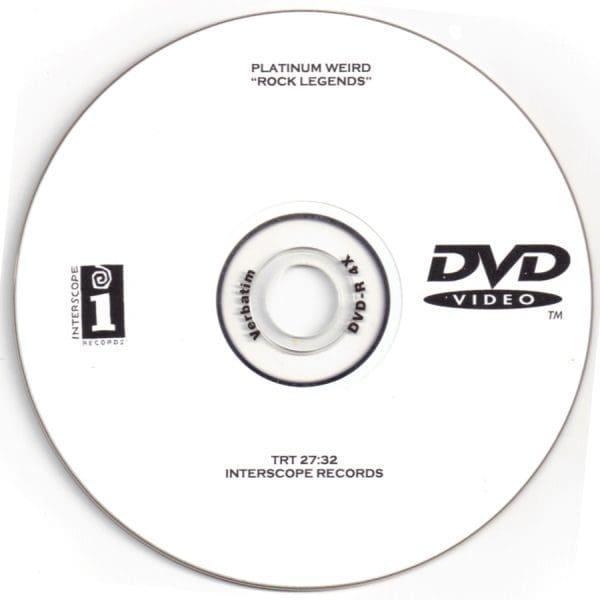 Record Of The Week – Platinum Weird Rock Legends Promo DVD