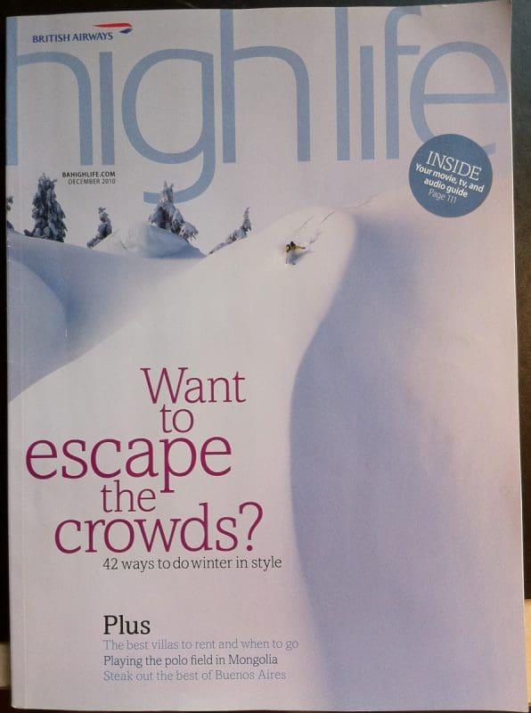 Annie Lennox Interview In British Airways Highlife Magazine