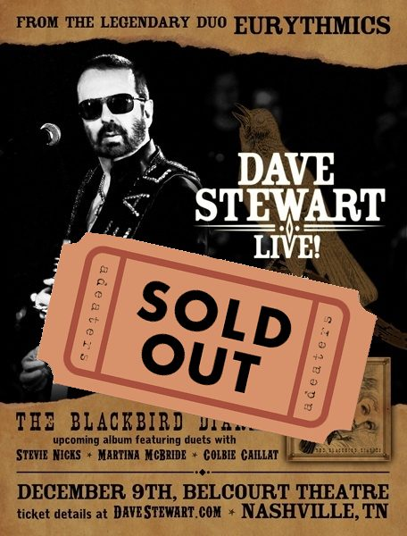 Dave Stewart Performs In Nashville Today At His Sold Out Gig
