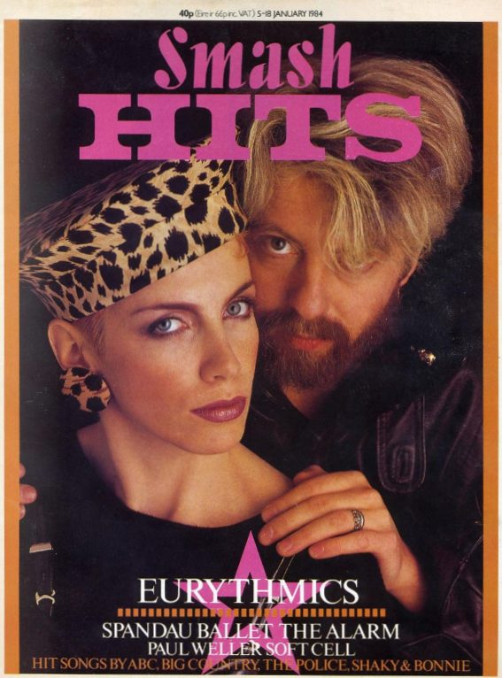 Magazine Of The Week: Eurythmics – Smash Hits January 1984