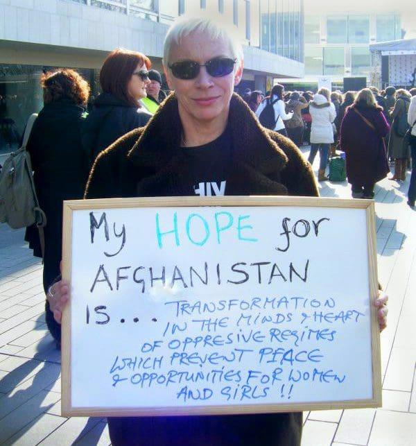 Annie Lennox's Hope For Afghanistan