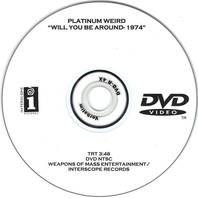 """Record Of The Week: Platinum Weird """"Will You Be Around"""" 1974 Promo DVD"""