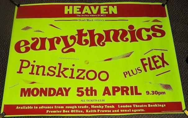 Memorabilia Of The Week: Eurythmics – Sweet Dreams Tour Poster