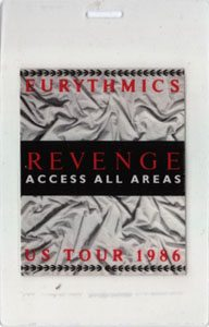 Eurythmics Revenge 25: Day 34 You Are Invited Backstage