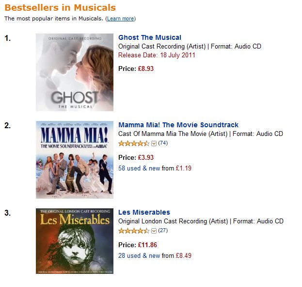 Ghost The Musical Cast Recording Hits The No.1 Spot On Amazon