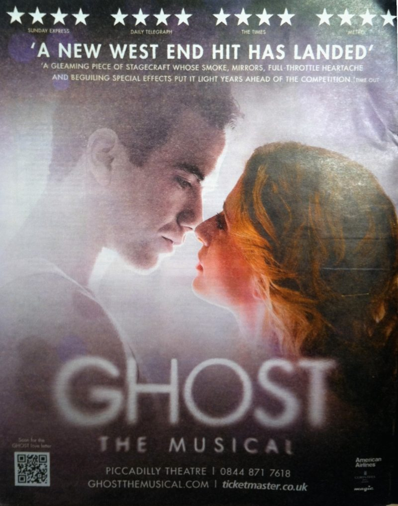Please Repost, Share Or Retweet! Ghost The Musical Needs You!