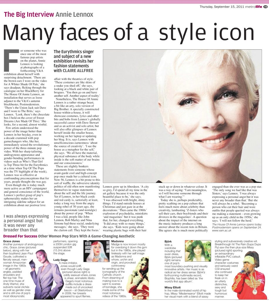 Annie Lennox: The Many Faces Of A Style Icon