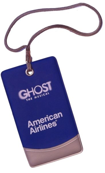 Memorabilia Of The Week: Ghost The Musical Promotional Luggage Tag