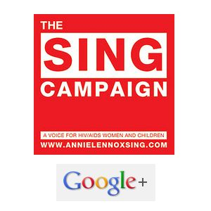 Join Annie Lennox's Sing Campaign On Google+