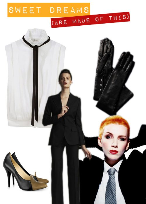 Turn Up To The House Of Annie Lennox Dressed As Annie Lennox