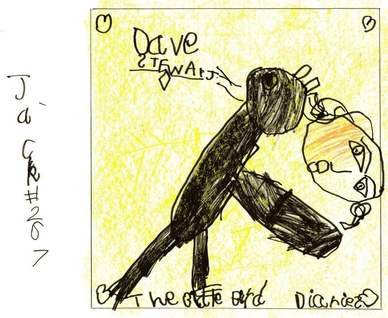 Jack Henderson Draws Dave Stewart's Blackbird Diaires Album Cover And Raises Over £31K