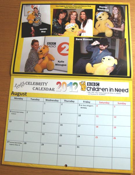 Dave Stewart Supports Children In Need Calendar And