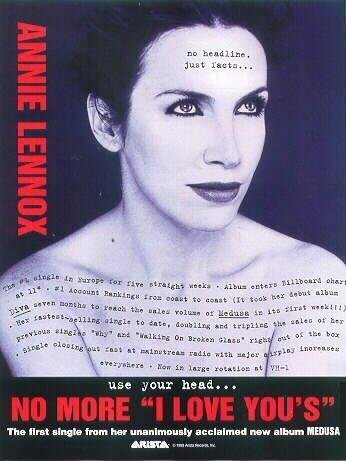 Advert Of The Week: Annie Lennox US Advert For No More I Love You's