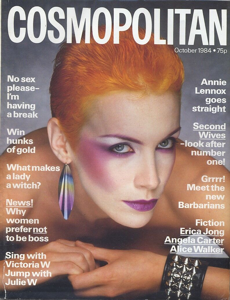 Magazine Of The Week: Annie Lennox – Cosmopolitan – UK (1984)