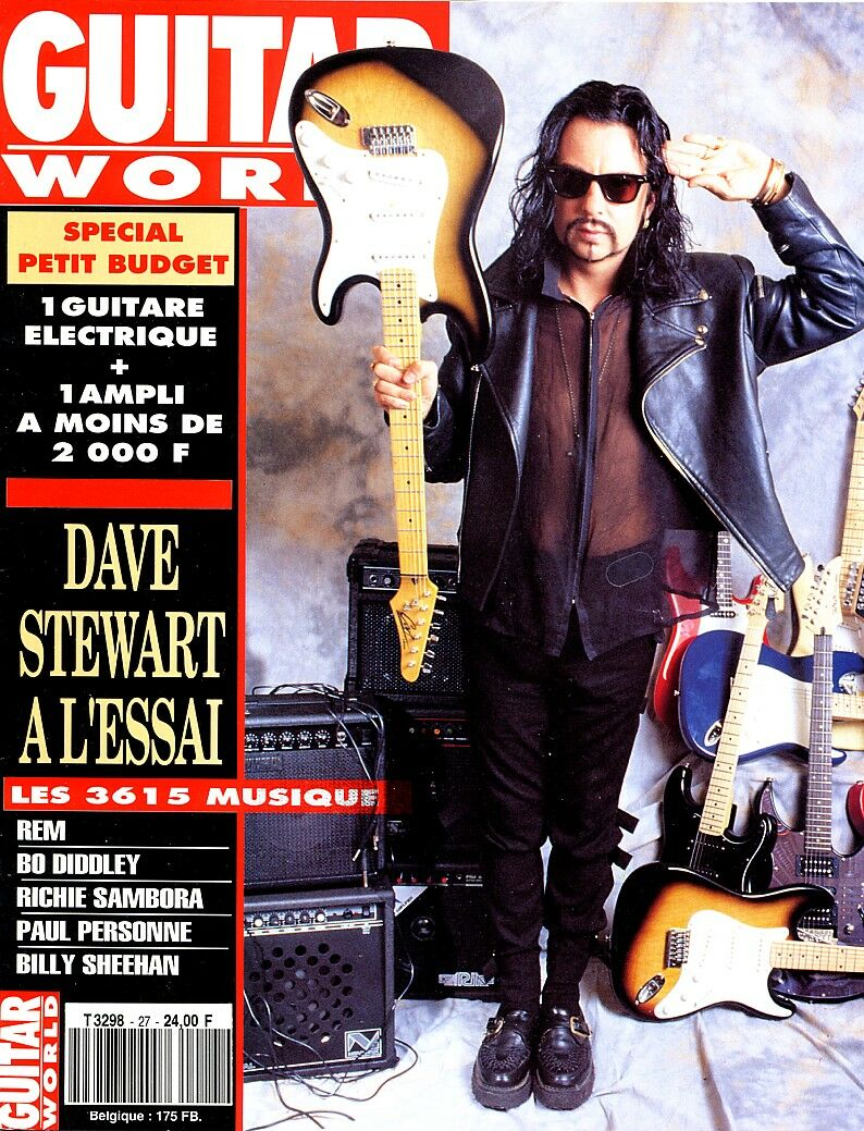 Magazine Of The Week: Dave Stewart – Guitar World – Belgium (1991)