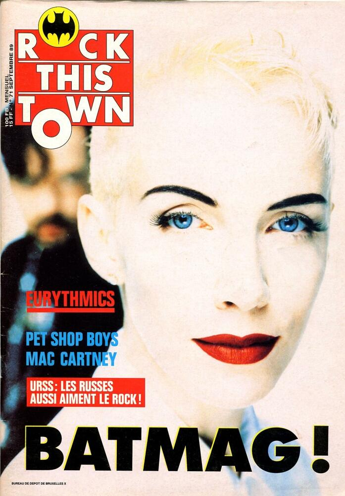 Magazine Of The Week: Eurythmics – Rock This Town (Belgium) – 1989