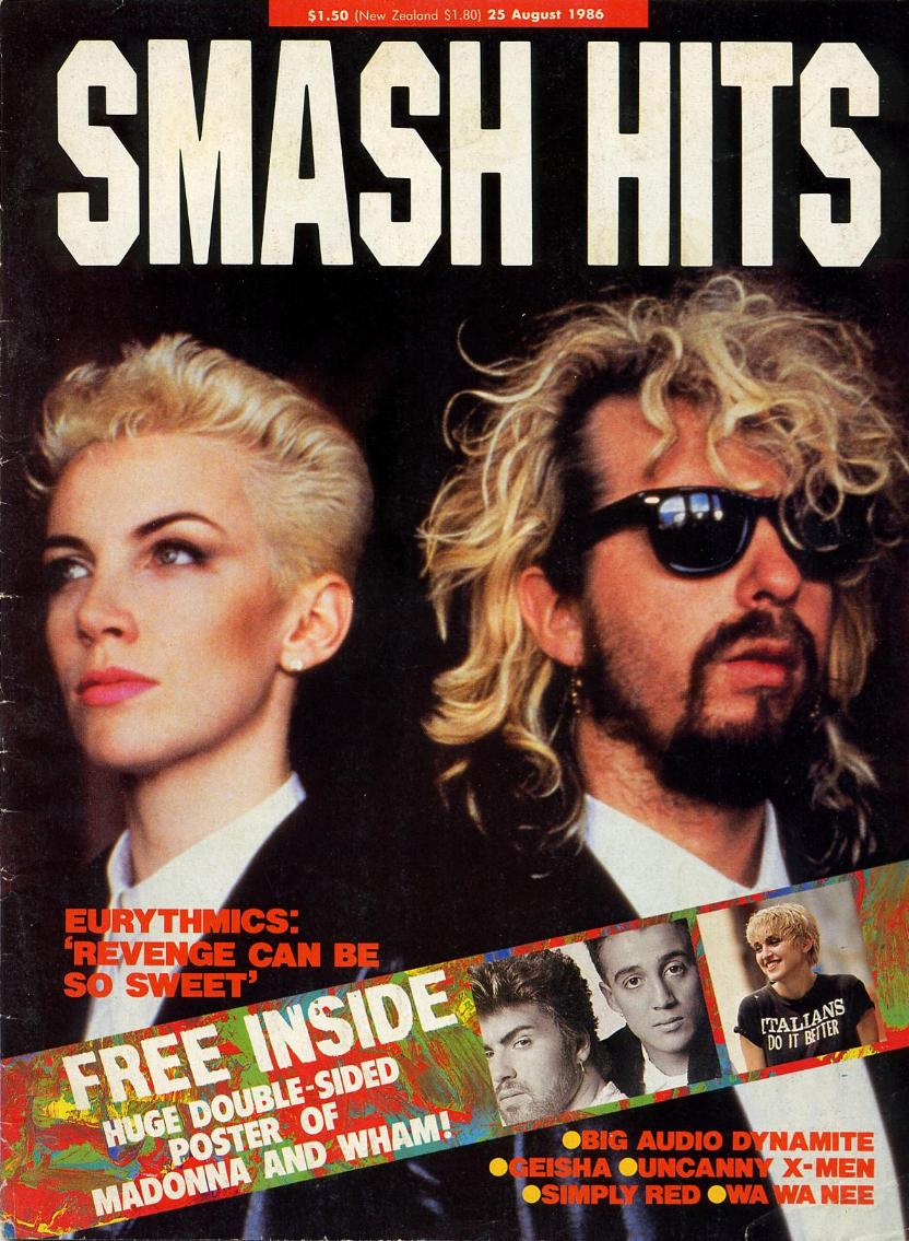 Magazine Of The Week: Eurythmics – Smash Hits (Australia) 1986