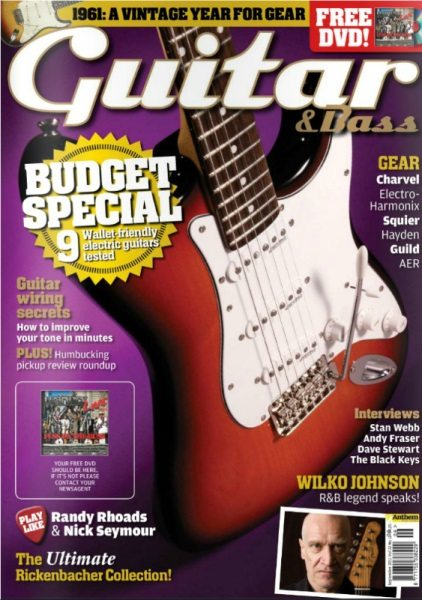 Magazine Of The Week: Dave Stewart In Guitar & Bass Magazine September 2011