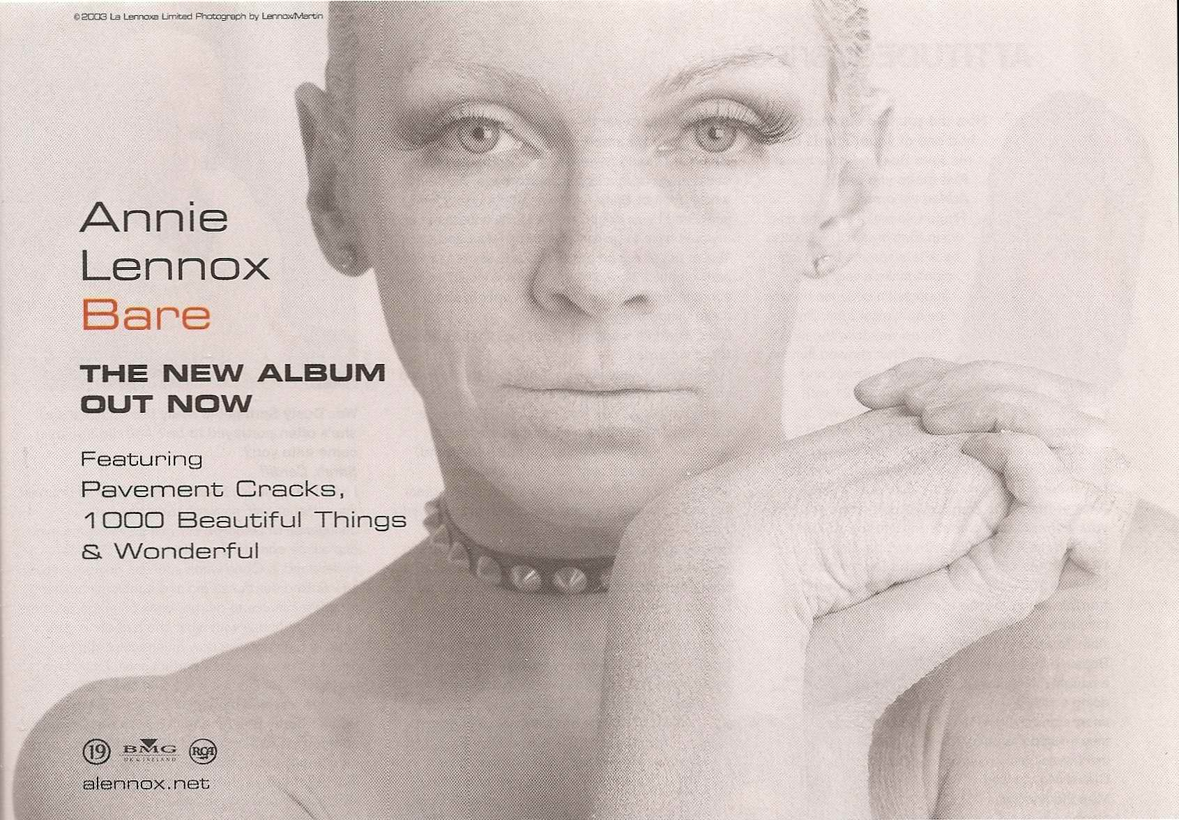 Advert Of The Week: Annie Lennox Bare