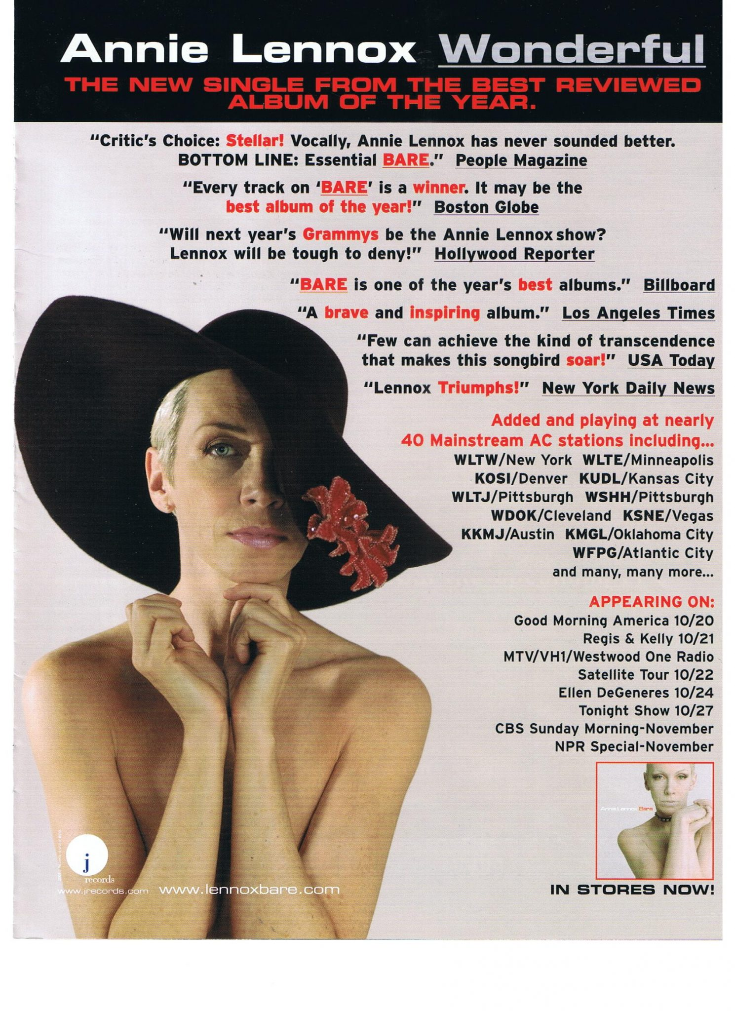 Advert Of The Week: Annie Lennox – Wonderful