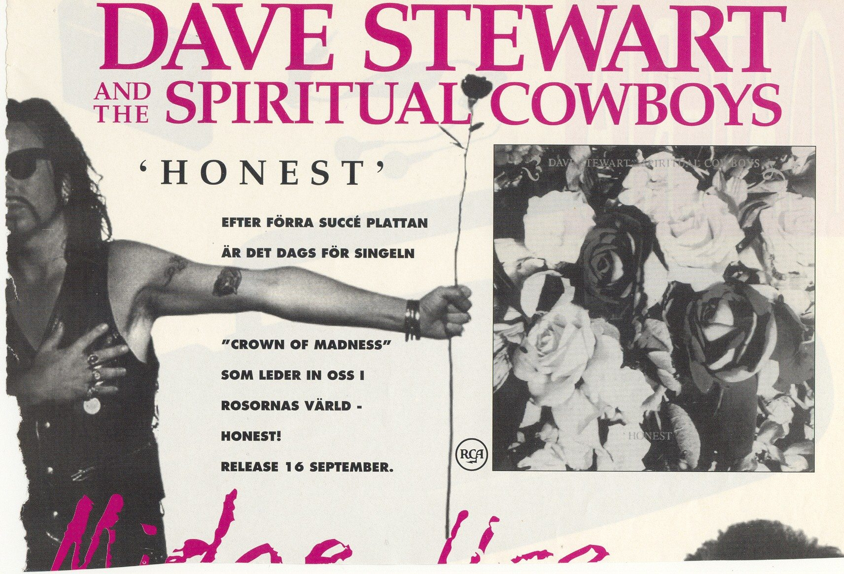 Advert Of The Week: Swedish Dave Stewart And The Spiritual Cowboys Honest Advert