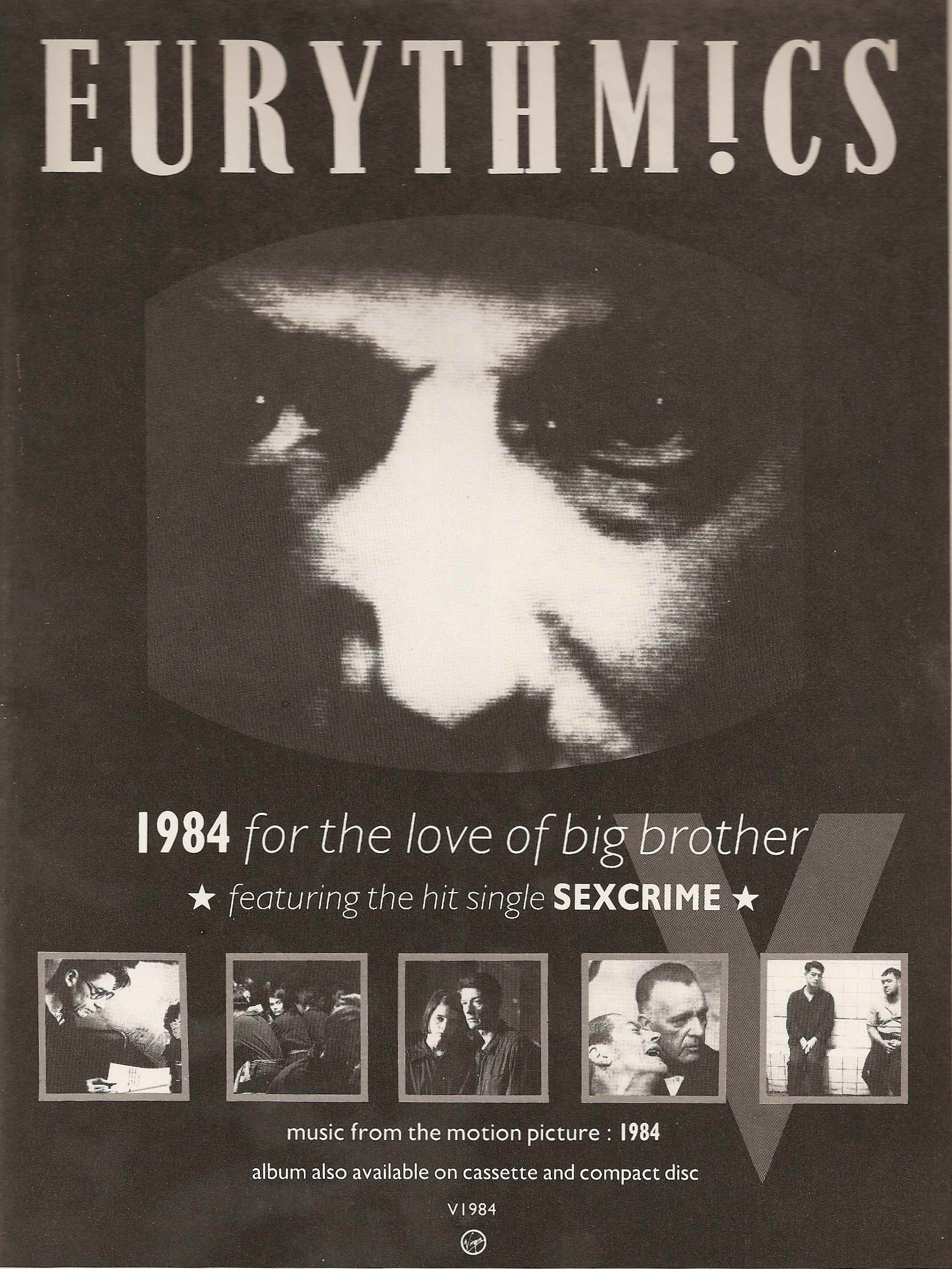 Advert Of The Week: Eurythmics 1984 For The love Of Big Brother Soundtrack