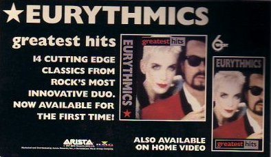 Advert Of The Week: Eurythmics Greatest Hits USA Advert