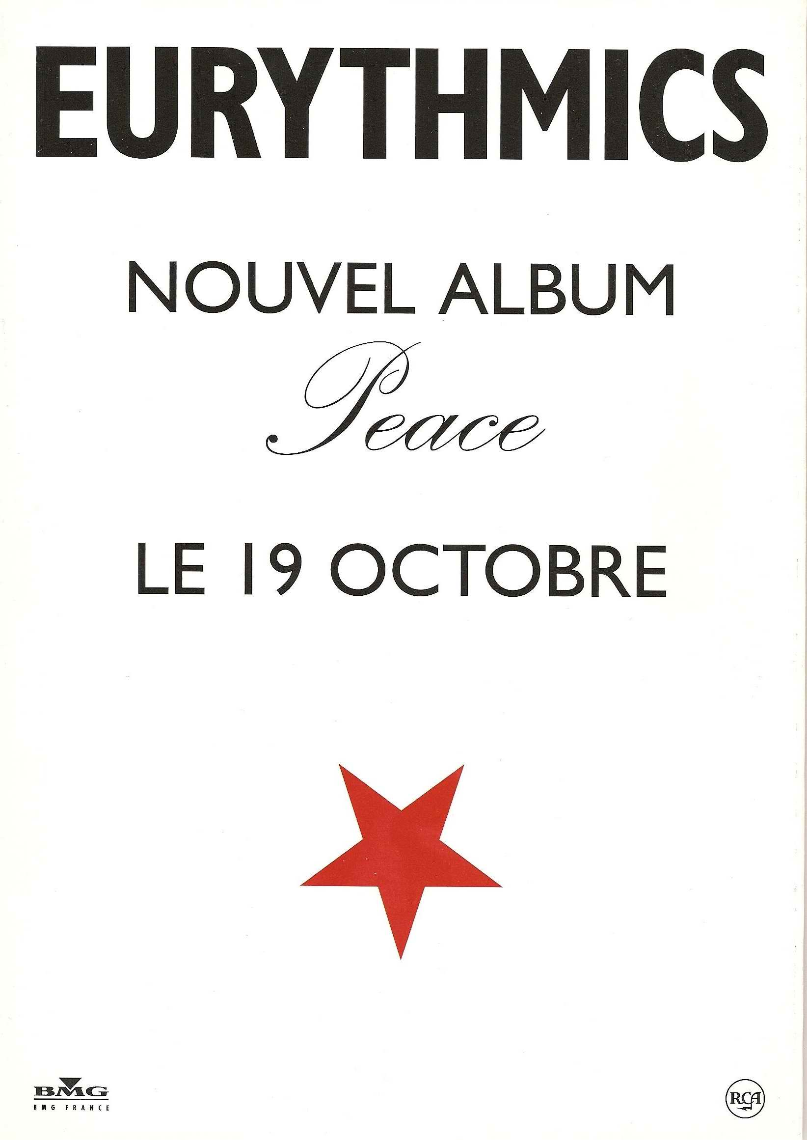 Advert Of The Week: Eurythmics – French Album Advert For Peace