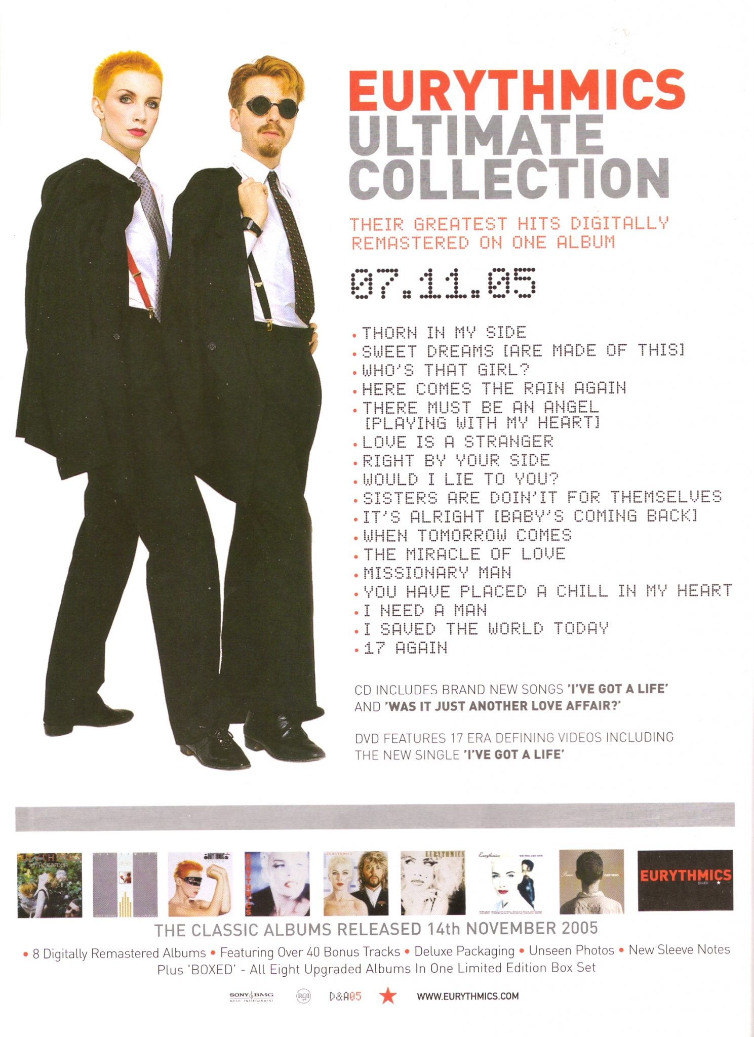 Advert Of The Week: Eurythmics Ultimate Collection UK Advert