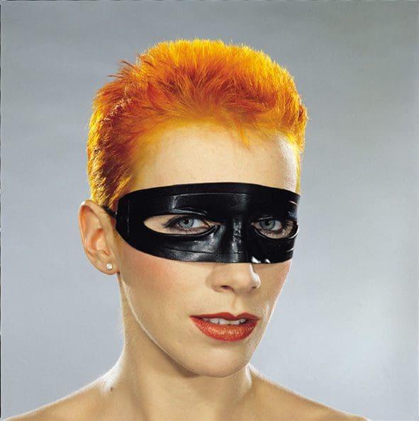 Photo Of The Week: Eurythmics – Black Leather Mask & Striking Orange Hair