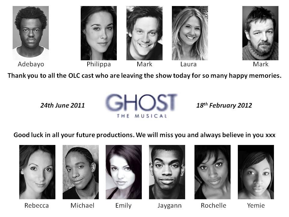 Last 2 Shows For A Large Number Of The Original Ghost The Musical London Cast