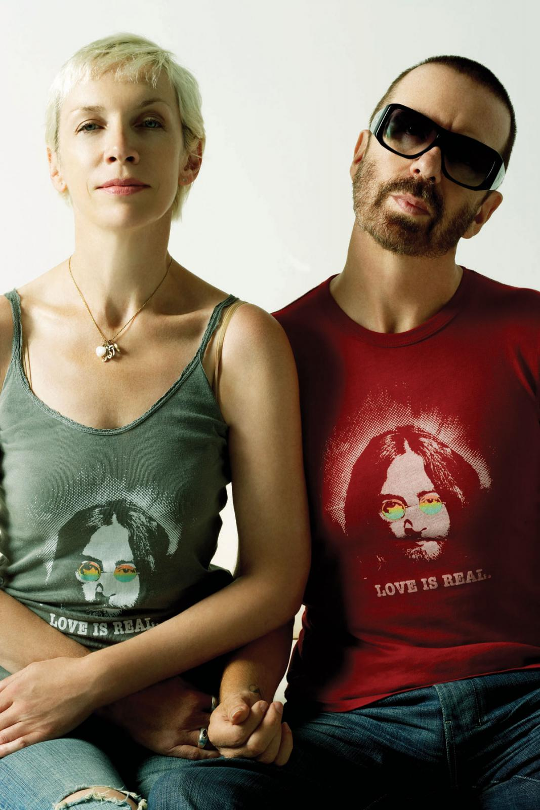 Photo Of The Week: Eurythmics – Dave And Annie In John Lennon T-Shirts