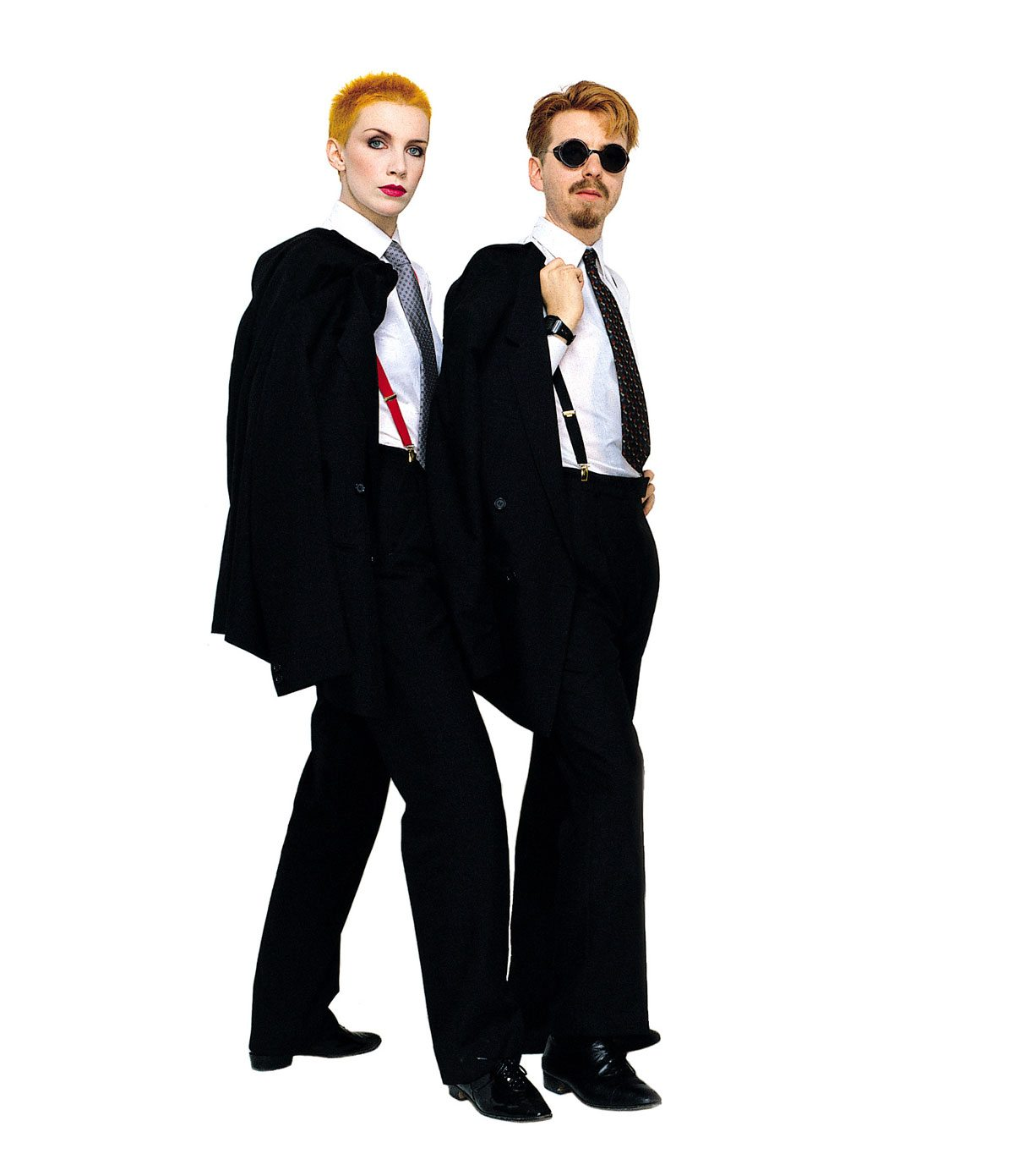 Photo Of The Week: Eurythmics – Dave And Annie In Matching Suits And Braces