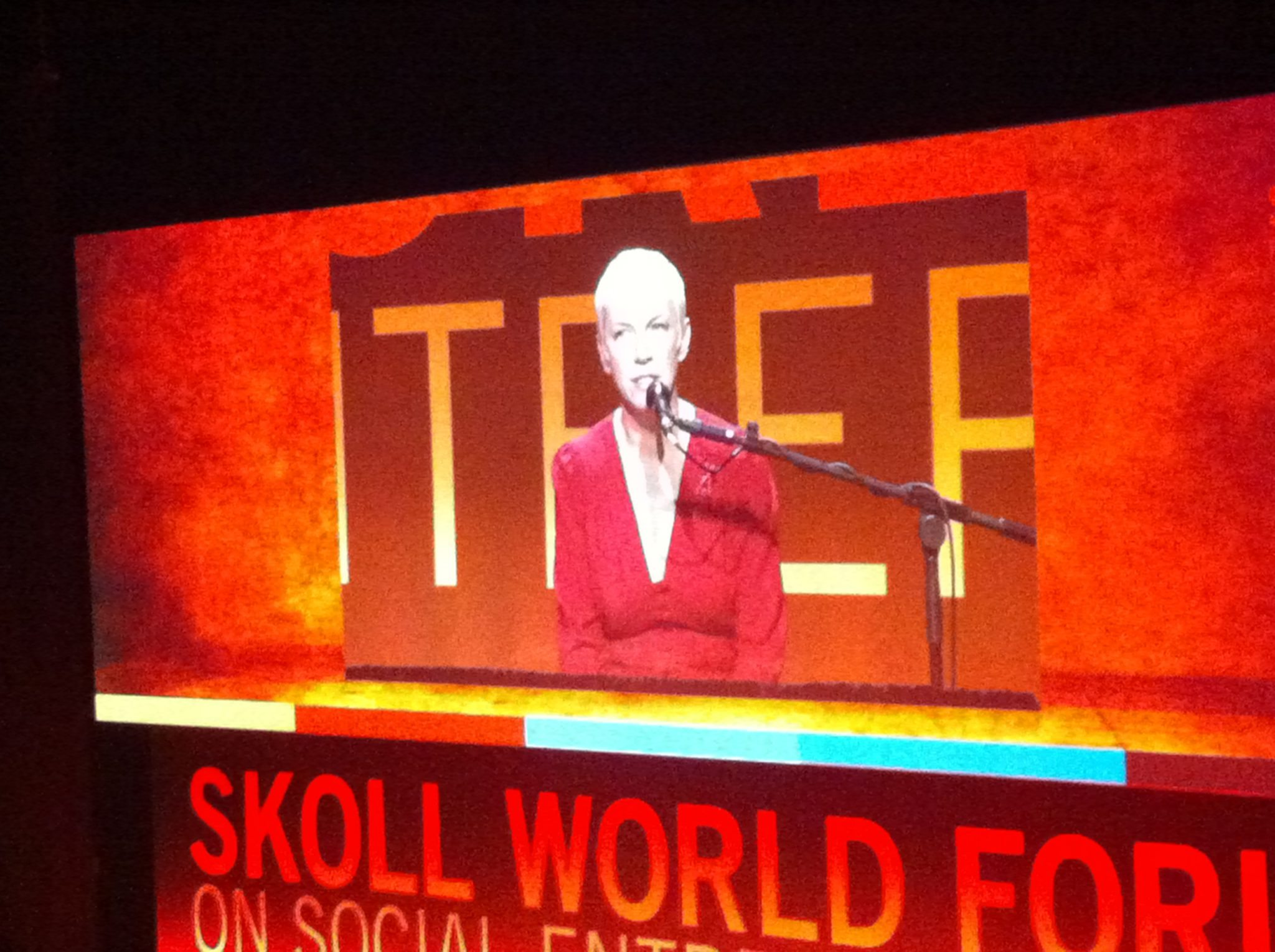 Annie Lennox Performed At The Skoll World Forum on Social Entrepreneurship In Oxford