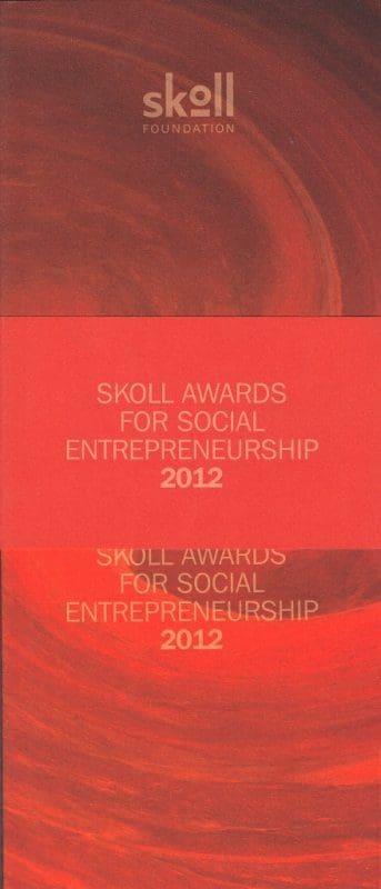 Memorabilia Of The Week: Annie Lennox Skoll Forum Brochure From 29th March 2012