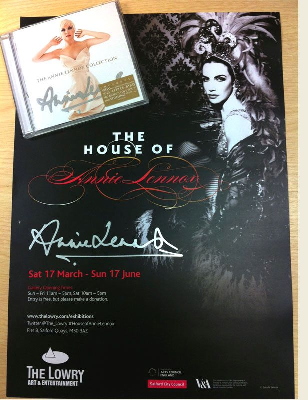 Win A Signed Annie Lennox Poster And CD At The Lowry's House Of Annie Lennox Facebook Page
