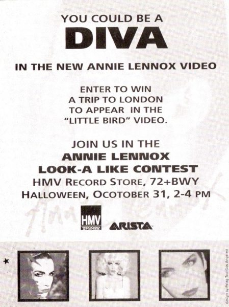 DIVA 20th Anniversary: Advert Of The Week: Annie Lennox Diva Adverts From Around The World