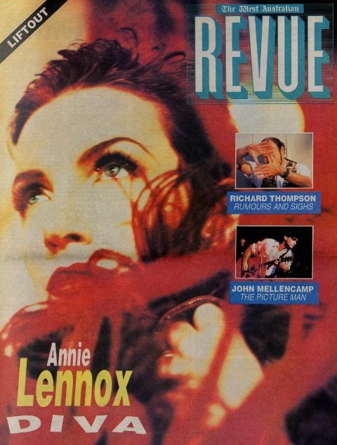 DIVA  20th Anniversary: Magazine Of The Week: Annie Lennox in Australia's Western Review
