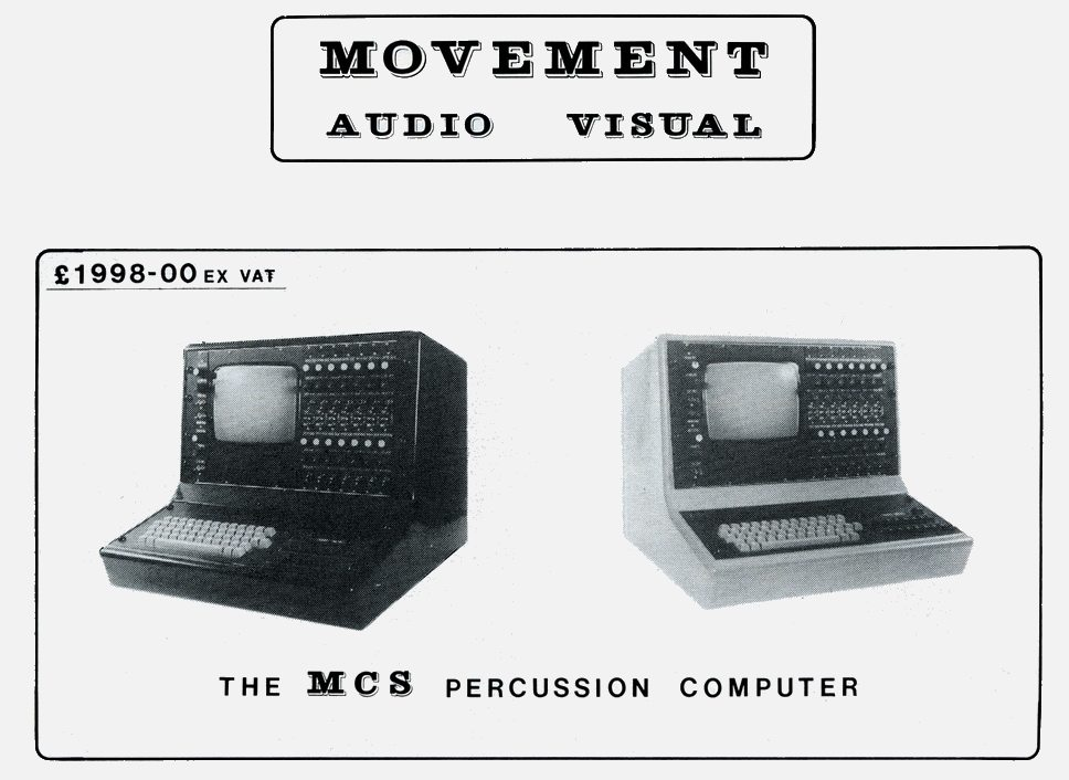 Memorabilia Of The Week: Advert For The Movement Systems Drum Computer As Used By Dave Stewart