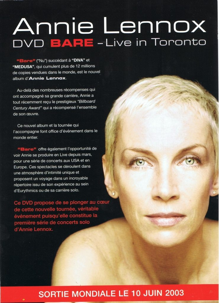 Ultimate Eurythmics Gallery Of The Day: Eurythmics, Annie Lennox & Dave Stewart Video Adverts From The Press