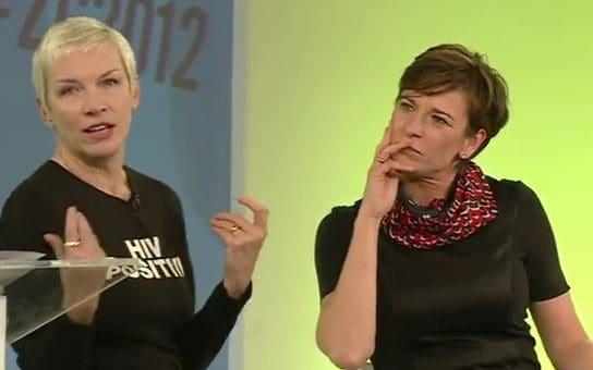 Annie Lennox In Conversation With Becky Anderson At Google Zeitgeist 2012