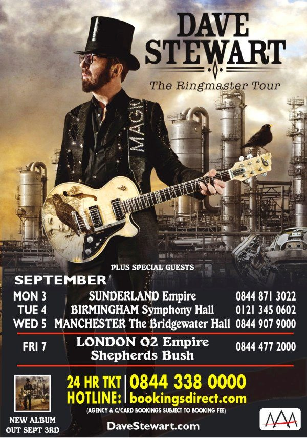 Dave Stewart Announces UK Tour To Celebrate The Launch Of The Ringmaster General