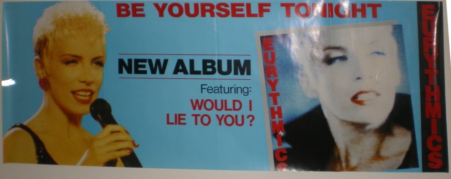 Memorabilia Of The Week: Stunning Eurythmics Be Yourself Tonight Poster From Australia