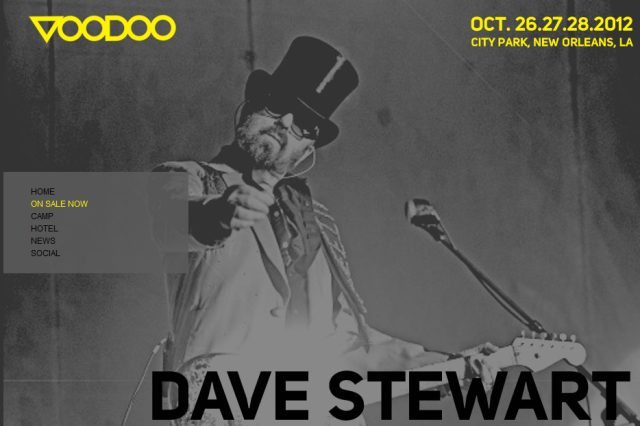 Dave Stewart To Perform At The New Orleans Voodoo Music Experience