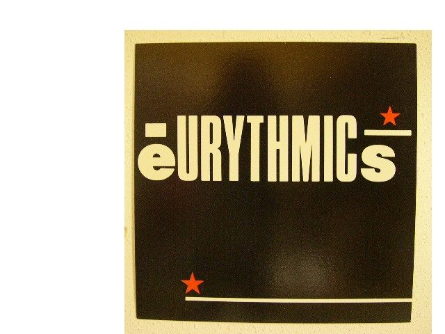 Ultimate Eurythmics Gallery Of The Day: Shop Display Promo Flats